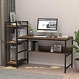 Dripex Holz Schreibtisch mit Ablage Computertisch,...